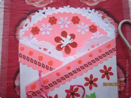 Использовала бумагу для акварели, цветной картон, кружева, пайетки, ленту. фото 8