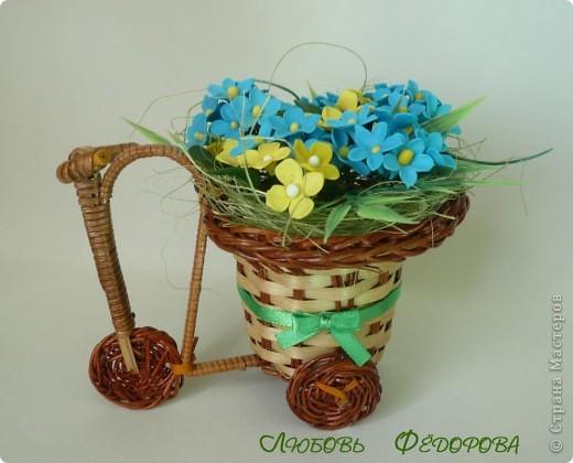 Всем привет!!!! Хочу показать вам велосипед с полевыми цветами. Цветочки неопределенной породы)))  фото 1