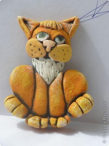 Соленый кот-будущий магнит .Без лака и магнита.Пока украшает полку. фото 1