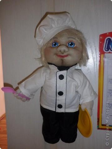 Всім добрий вечір ! Такий поварьонок  проживає у нашому дитячому садочку,запрошує діток на обіди. фото 2