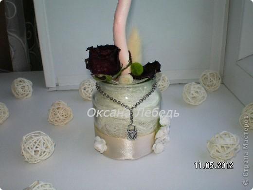 Доброго Всем дня!!!!   Мой долгожданный топиарчик из сухоцветов состоялся,  не выдержала я ждать  обещанные мне белые розы, и сделала без них,  мне нравится, а Вам? фото 5