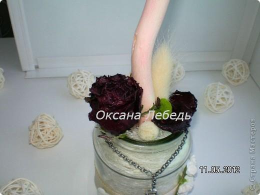 Доброго Всем дня!!!!   Мой долгожданный топиарчик из сухоцветов состоялся,  не выдержала я ждать  обещанные мне белые розы, и сделала без них,  мне нравится, а Вам? фото 6