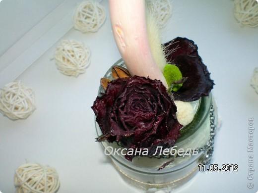 Доброго Всем дня!!!!   Мой долгожданный топиарчик из сухоцветов состоялся,  не выдержала я ждать  обещанные мне белые розы, и сделала без них,  мне нравится, а Вам? фото 7