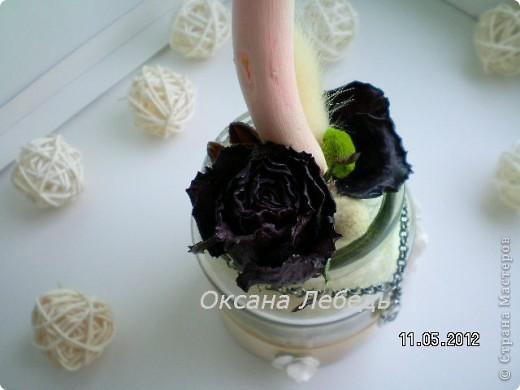 Доброго Всем дня!!!!   Мой долгожданный топиарчик из сухоцветов состоялся,  не выдержала я ждать  обещанные мне белые розы, и сделала без них,  мне нравится, а Вам? фото 8