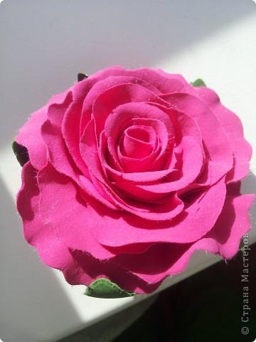 Я увидела шикарные розы  blustarlight  http://stranamasterov.ru/node/362205#comment-4093155 и решила попробовать свои силы, ну и вот что получилось. фото 2