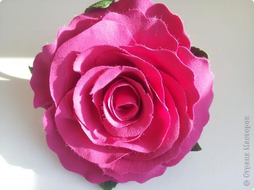 Я увидела шикарные розы  blustarlight  http://stranamasterov.ru/node/362205#comment-4093155 и решила попробовать свои силы, ну и вот что получилось. фото 3