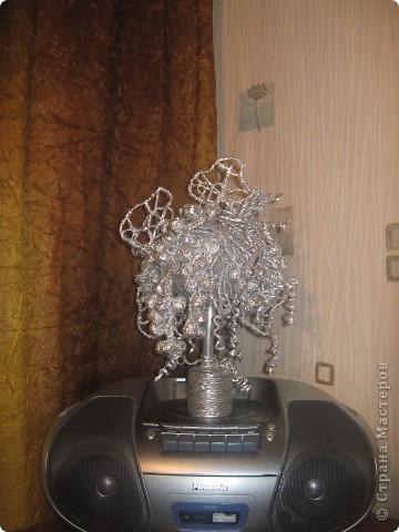 Серебрянный топиарий из фальги. фото 4