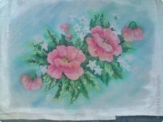 Еще цветы. Горячий батик фото 1