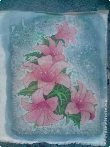 Еще цветы. Горячий батик фото 4