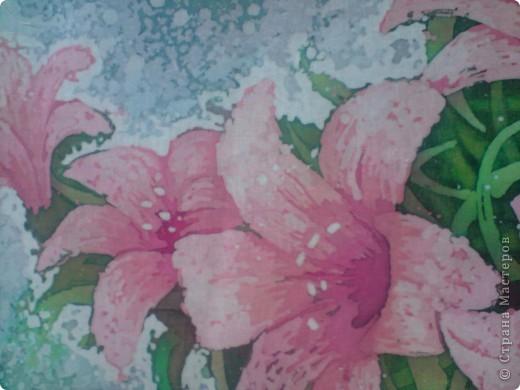 Еще цветы. Горячий батик фото 5
