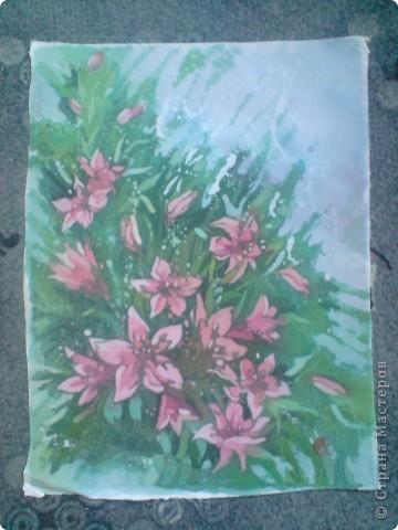 Еще цветы. Горячий батик фото 7