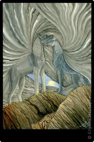 """""""Сотворение"""" 2005 г.  В большем разрешении: http://hontor.ru/photo/1-0-1  Огненный вархал создает мир из своей крови. Иллюстрация к авторской вселенной. фото 14"""