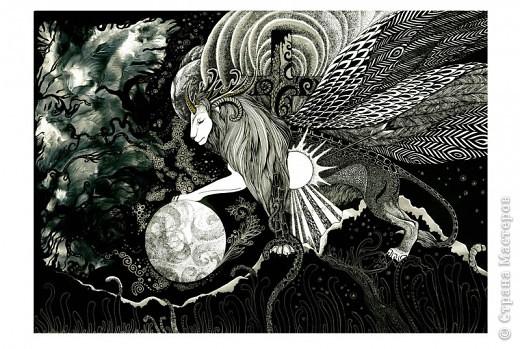 """""""Сотворение"""" 2005 г.  В большем разрешении: http://hontor.ru/photo/1-0-1  Огненный вархал создает мир из своей крови. Иллюстрация к авторской вселенной. фото 18"""