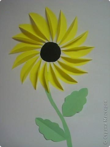 Цветочек подсолнух делается очень легко и быстро .