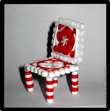 Здравствуйте жители СМ. Сегдня я к Вам с объемным квиллингом. Представляю первый стульчик из квиллинга, и вообще! фото 1