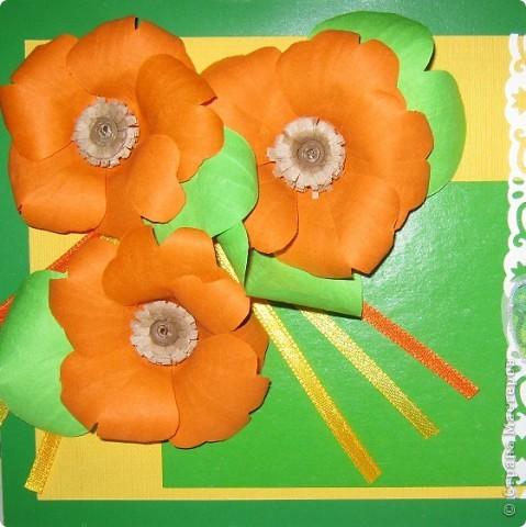 Нечаянно вырезались лепестки этого яркого, рыжего цветочка. фото 11