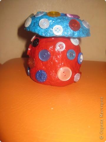 баночка-гриб боровик для заначки :-) фото 3
