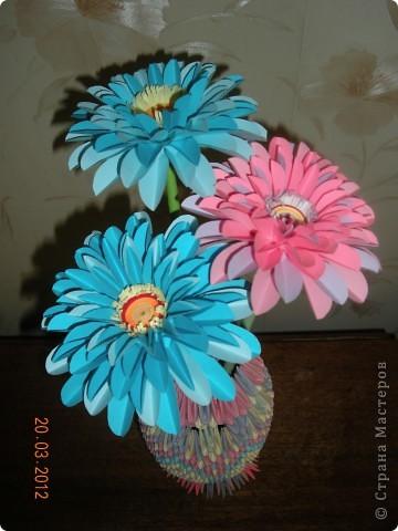 Вот такие герберы в этом году мы изготовили с учащимися к 8 марта для мам. фото 4
