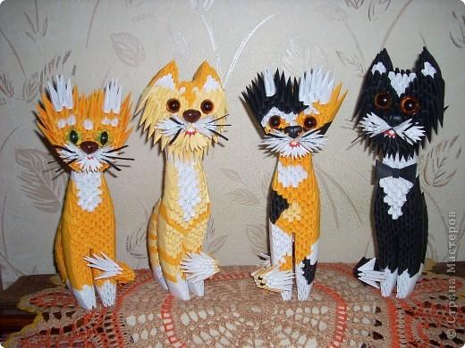 Котик из модульного оригами схемы