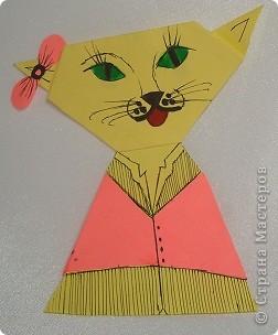 Здраствуйте жители Страны Мастеров я опять сделал новую поделку и назвал её семейство кошек. Тут кошка,  кот  и котёночек. фото 3
