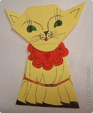 Здраствуйте жители Страны Мастеров я опять сделал новую поделку и назвал её семейство кошек. Тут кошка,  кот  и котёночек. фото 4