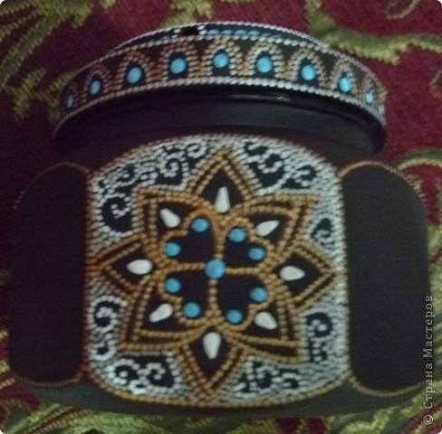 деревянная коробочка,черная грунтовка,шаблон и 3-х мерная краска двух оттенков. фото 14