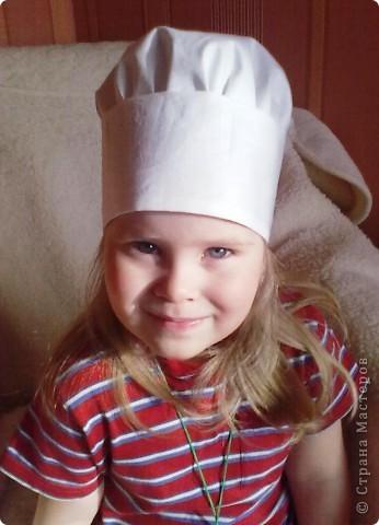 В детском саду попросили сшить колпачок поваренка.  Это мой первый опыт.  Поэтому вот что получилось. фото 2