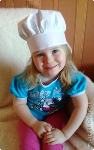 В детском саду попросили сшить колпачок поваренка.  Это мой первый опыт.  Поэтому вот что получилось. фото 5