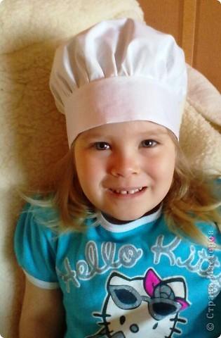В детском саду попросили сшить колпачок поваренка.  Это мой первый опыт.  Поэтому вот что получилось. фото 4
