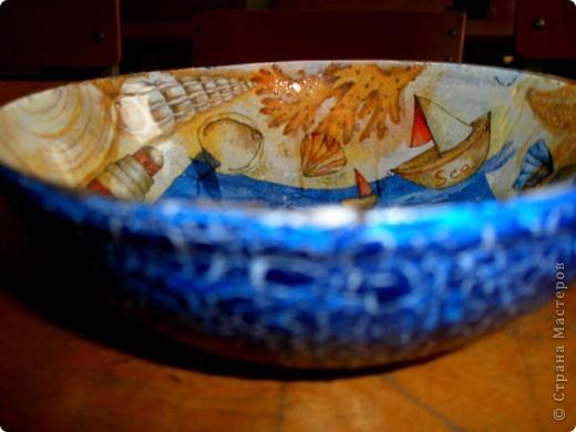 немного декупажу. мой первый опыт обратного декупажа - эти стеклянные салатники. фото 2