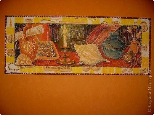размер панно 1500х600  материал - шпатлёвка акриловая, клей ПВА роспись - гуашь