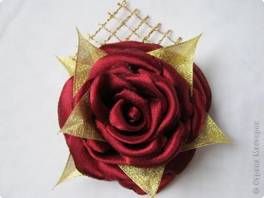 Попробовала сделать розы по чудесному МК  http://stranamasterov.ru/node/360171?tid=1724 , ткань атлас. фото 3