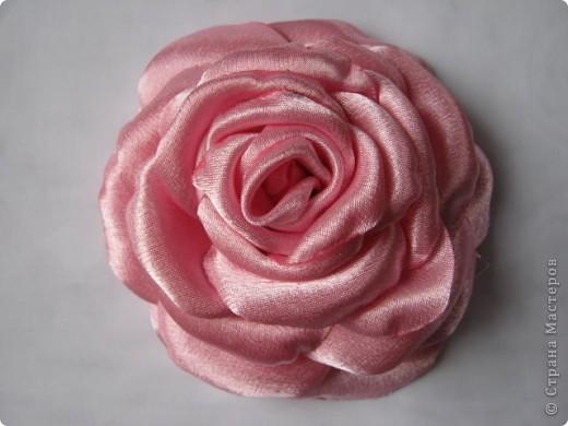 Попробовала сделать розы по чудесному МК  http://stranamasterov.ru/node/360171?tid=1724 , ткань атлас. фото 4