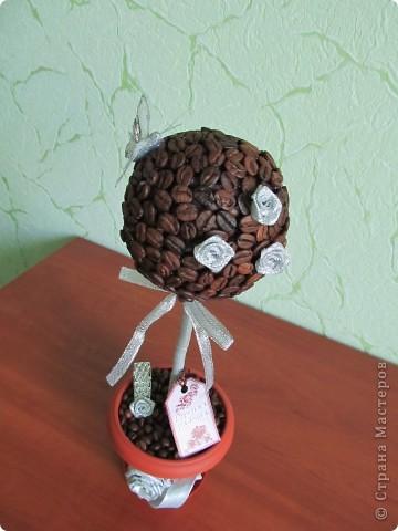 Здравствуйте дорогие мастерицы! Вот опять сотворила свои любимые кофейные топиарчики.  фото 2