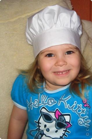 В детском саду попросили сшить колпачок поваренка.  Это мой первый опыт.  Поэтому вот что получилось. фото 3