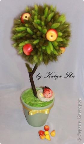 """Это дерево муж сказал оставить себе,больше всех ему понравилось,наверно потому что  наиболее """"натуральное"""" получилось:) фото 1"""