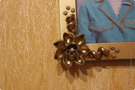 узор из макарон, окраска из баллончика, золото. фото 10