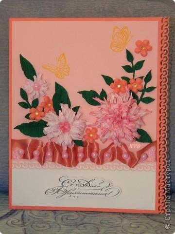 Здесь увидела открытку и МК цветочков http://stranamasterov.ru/node/321021?c=favorite_451 фото 1