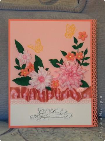 Здесь увидела открытку и МК цветочков http://stranamasterov.ru/node/321021?c=favorite_451 фото 16