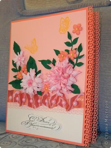 Здесь увидела открытку и МК цветочков http://stranamasterov.ru/node/321021?c=favorite_451 фото 2