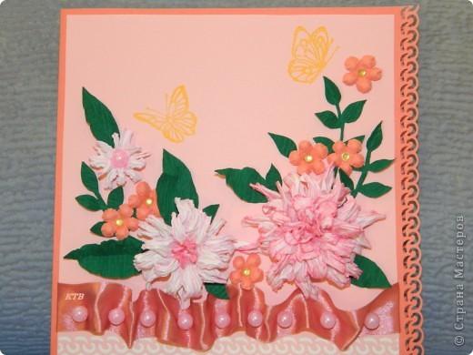 Здесь увидела открытку и МК цветочков http://stranamasterov.ru/node/321021?c=favorite_451 фото 6