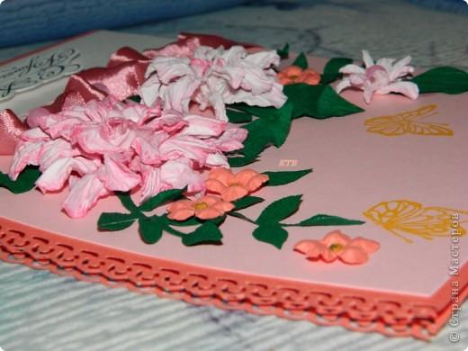 Здесь увидела открытку и МК цветочков http://stranamasterov.ru/node/321021?c=favorite_451 фото 7