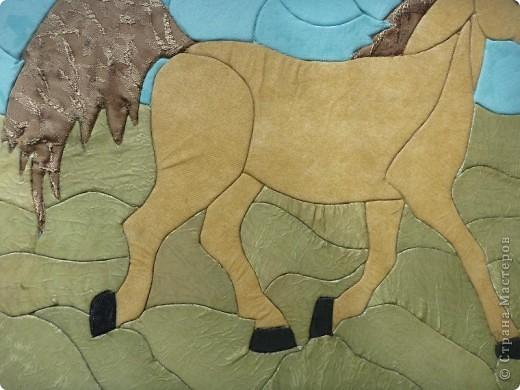 """Картину """"На лугу пасутся ко..."""" в технике """"Пэчворк по пенопласту"""" выполнили мои ученицы 8 """"Б"""" класса Шерипова Назгум и Мамешева Наргиз фото 11"""