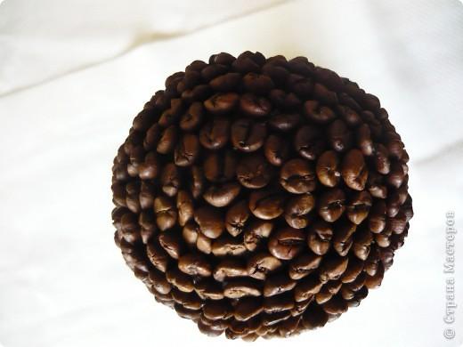 Как мне и предсказывала Этери, одним деревцем я не успокоилась. срочно захотелось сделать кофейное деревце, потом другое. Но если вы заметили, то зёрнышки я приклеивала не плашмя,, как обычно а торцом. В инете видела нечто подобное, но МК, конечно не было, поэтому клеила как придумалось. Причём зёрнышки на деревцах наклеены по - разному. фото 11