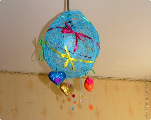Люстра-шар для детской комнаты. фото 1