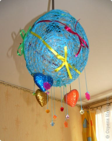 Люстра-шар для детской комнаты. фото 2