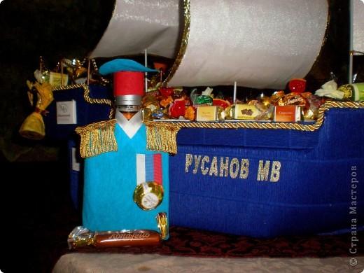 Вот 12 мая у свёкра был юбилей, решили с мужем подарить такой корабль - это мой первенец:)! Если есть замечания по работе, выслушаю и приму к сведению. фото 5
