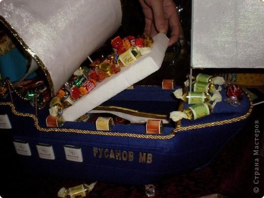 Вот 12 мая у свёкра был юбилей, решили с мужем подарить такой корабль - это мой первенец:)! Если есть замечания по работе, выслушаю и приму к сведению. фото 3