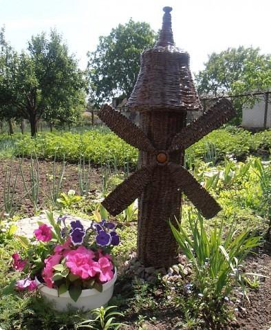 Добрый день, всем, всем, всем!!! Вдохновленная работой Ленчика (Деревенщина)                                   http://stranamasterov.ru/node/234062, наконец-то, я закончила и свою мельничку для двора. фото 1
