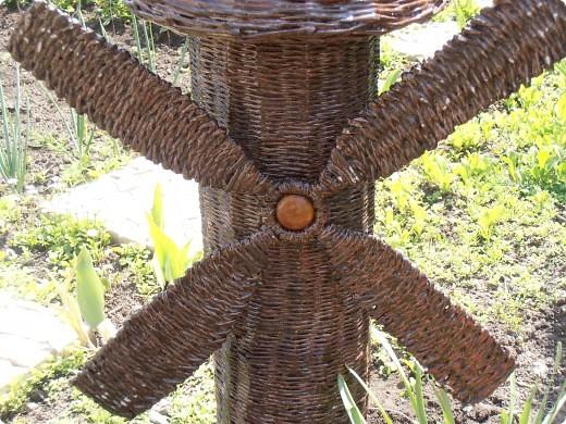 Добрый день, всем, всем, всем!!! Вдохновленная работой Ленчика (Деревенщина)                                   http://stranamasterov.ru/node/234062, наконец-то, я закончила и свою мельничку для двора. фото 6